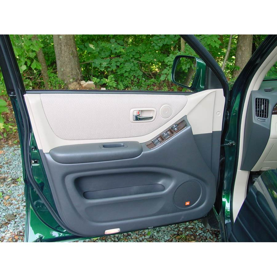 2007 Toyota Highlander Front door speaker location