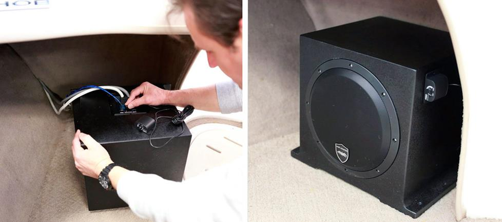 "Wet Sounds 10"" powered subwoofer"