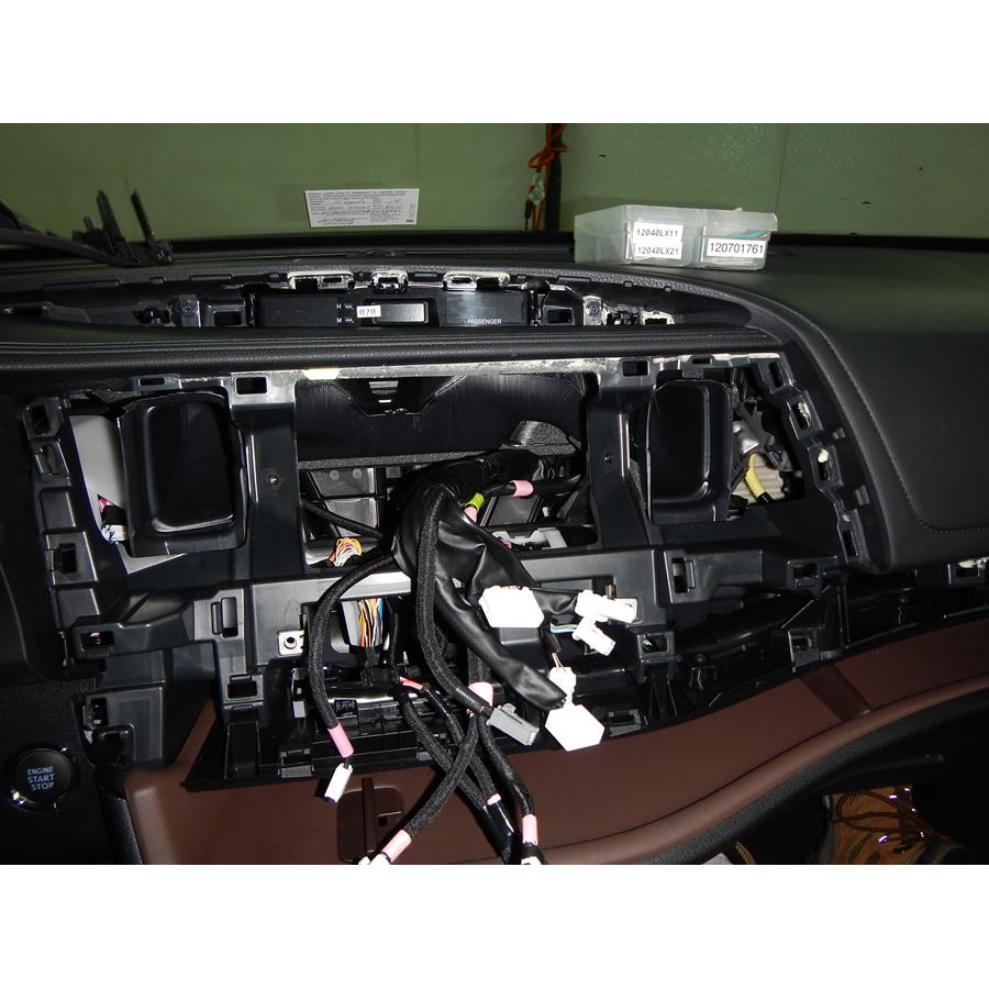 2015 Toyota Highlander Factory radio removed