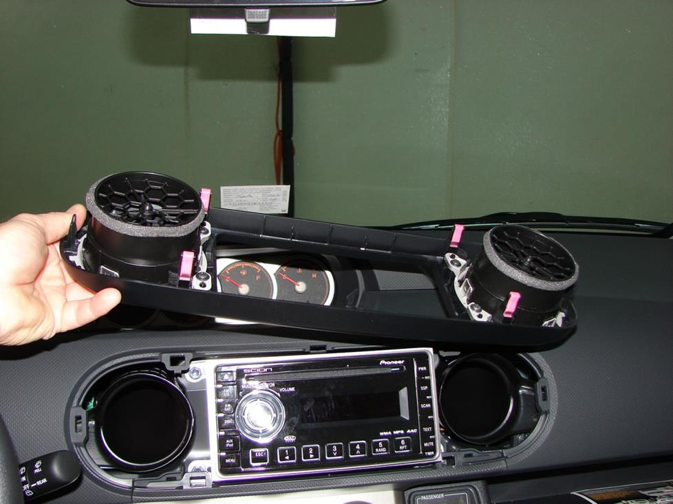 Scion xB radio removal