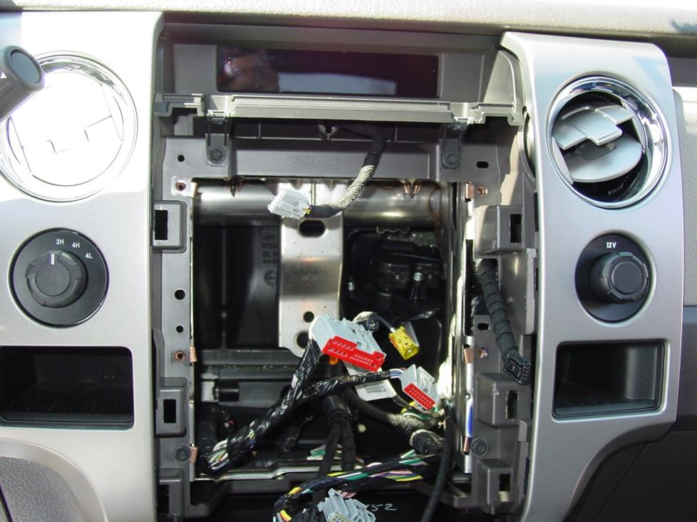 ford f-150 radio cavity
