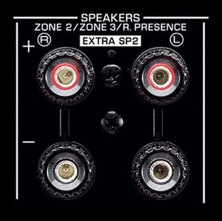 Powered Zone 2 speaker outputs