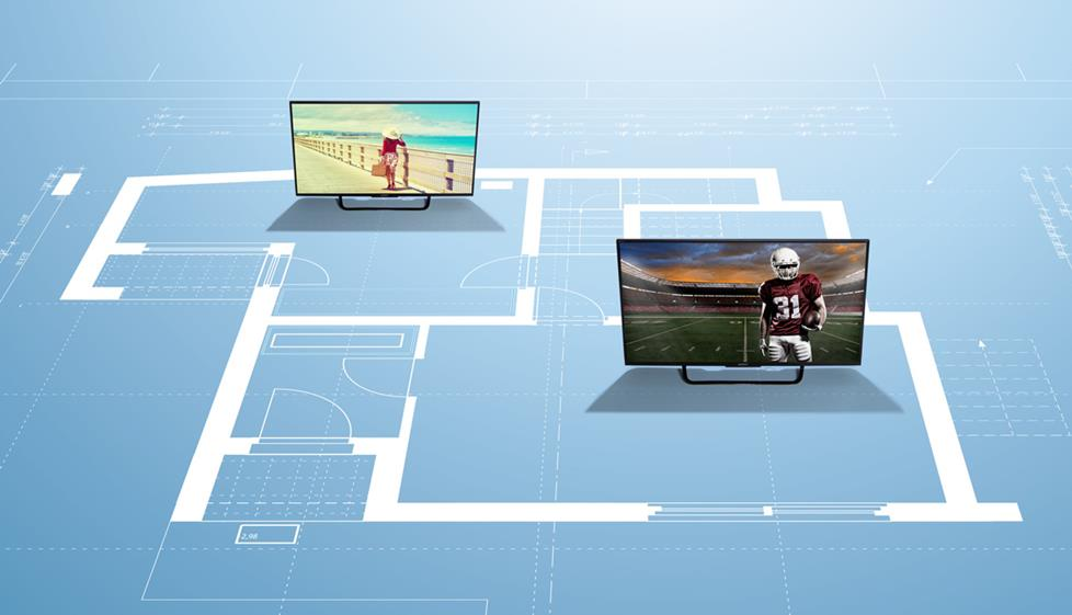 A multi-zone video receiver lets you send video from one receiver to two separate TVs