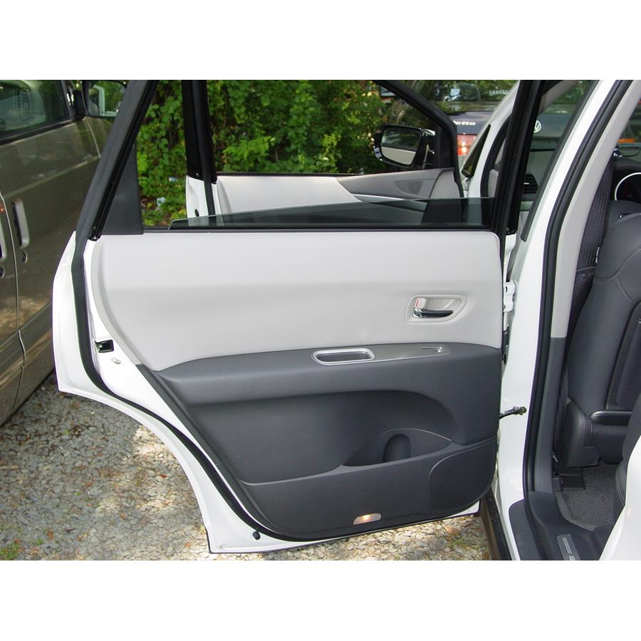 2014 Subaru Tribeca Rear door speaker location