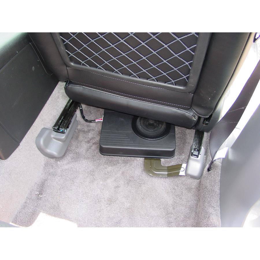 2006 Subaru Baja Factory subwoofer location