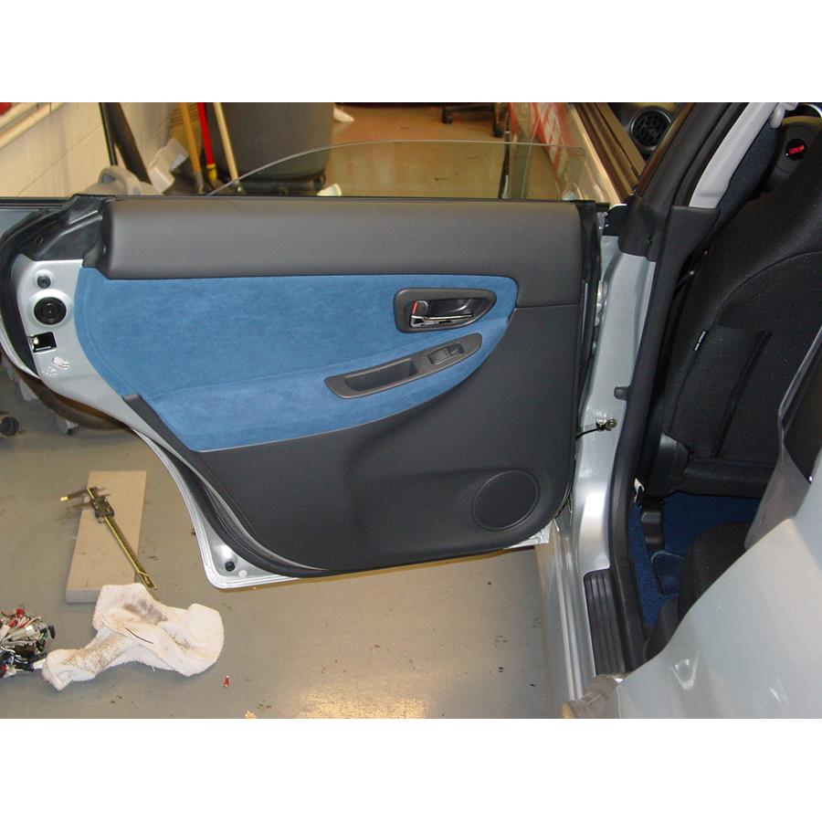 2007 Subaru Impreza WRX STi Rear door speaker location