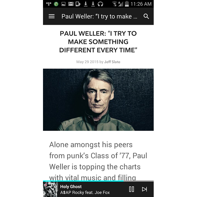 app shot of articles