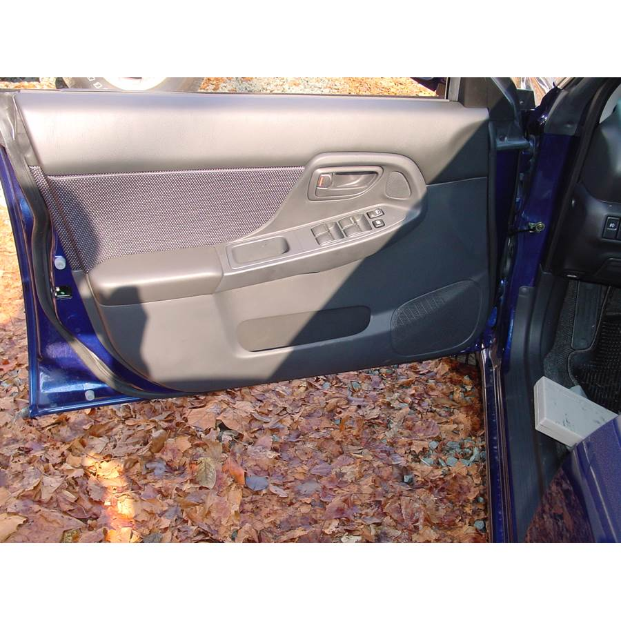 2004 Subaru Impreza Outback Sport Front door speaker location