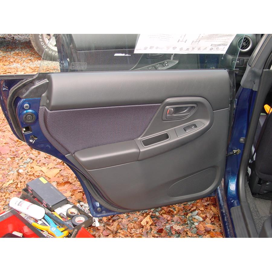 2004 Subaru Impreza Outback Sport Rear door speaker location