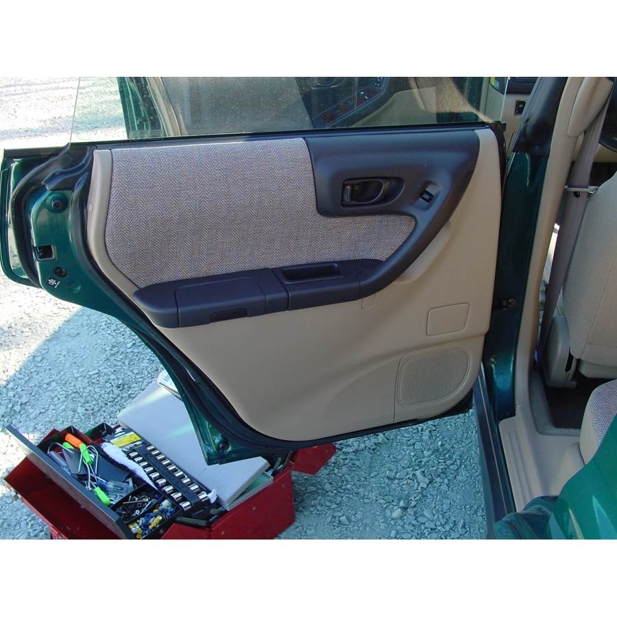 2001 Subaru Forester Rear door speaker location