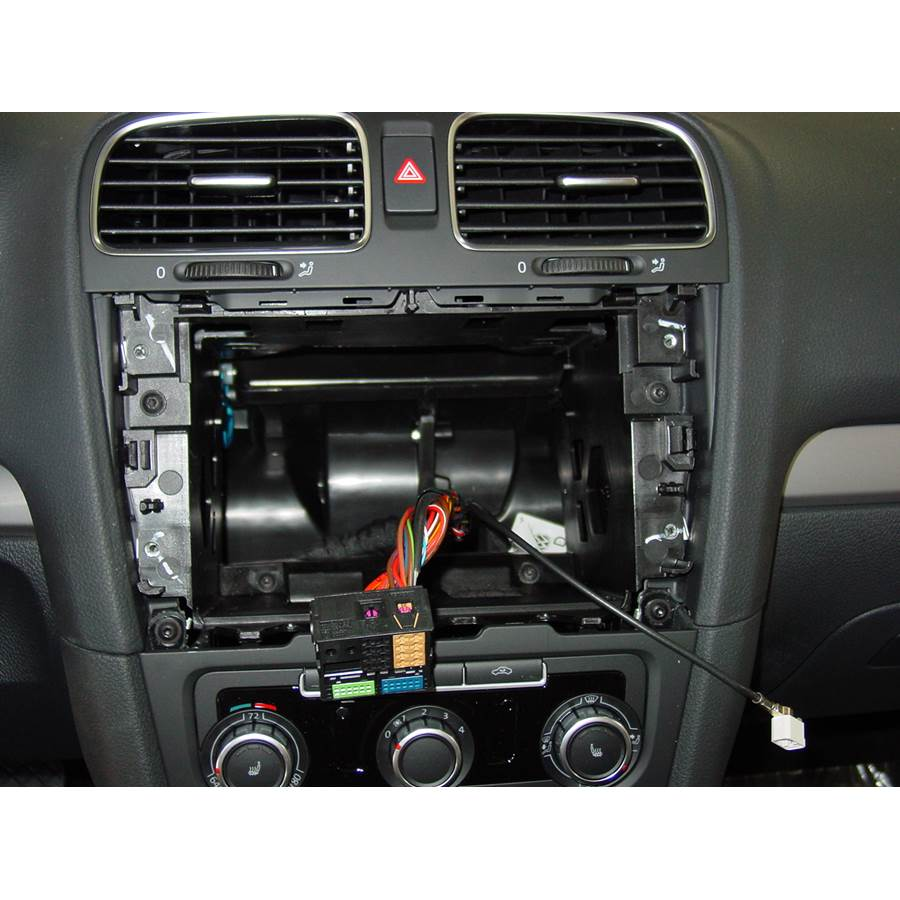 2012 Volkswagen Golf Factory radio removed