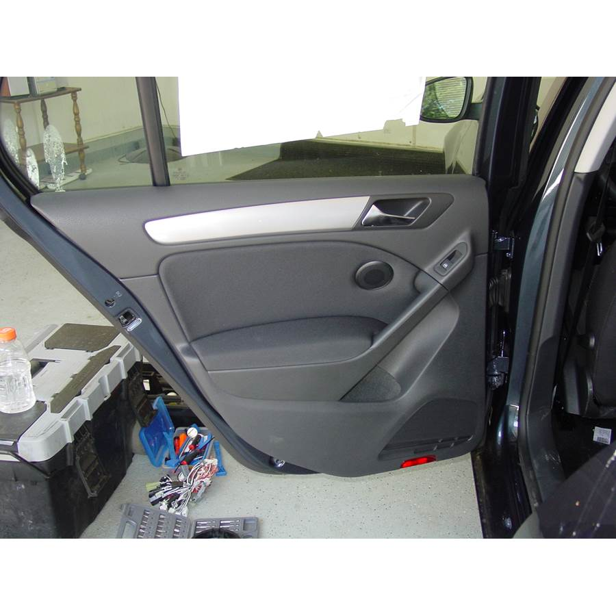 2012 Volkswagen Golf Rear door speaker location