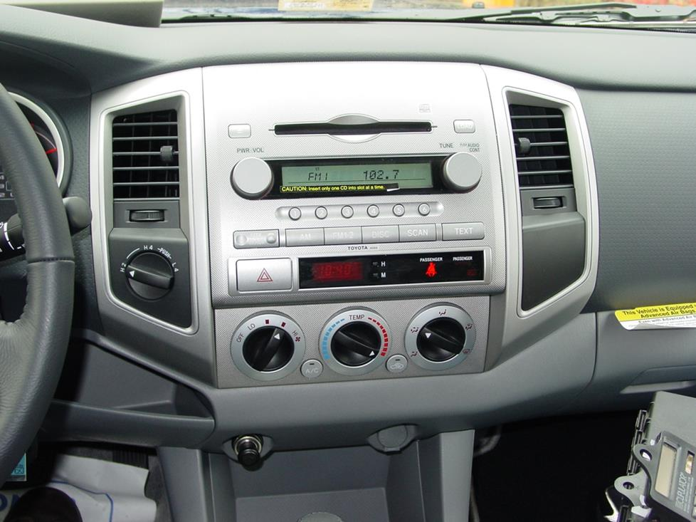 radio 2005 2011 toyota tacoma double cab car audio profile Toyota Tacoma Steering Diagram at bakdesigns.co