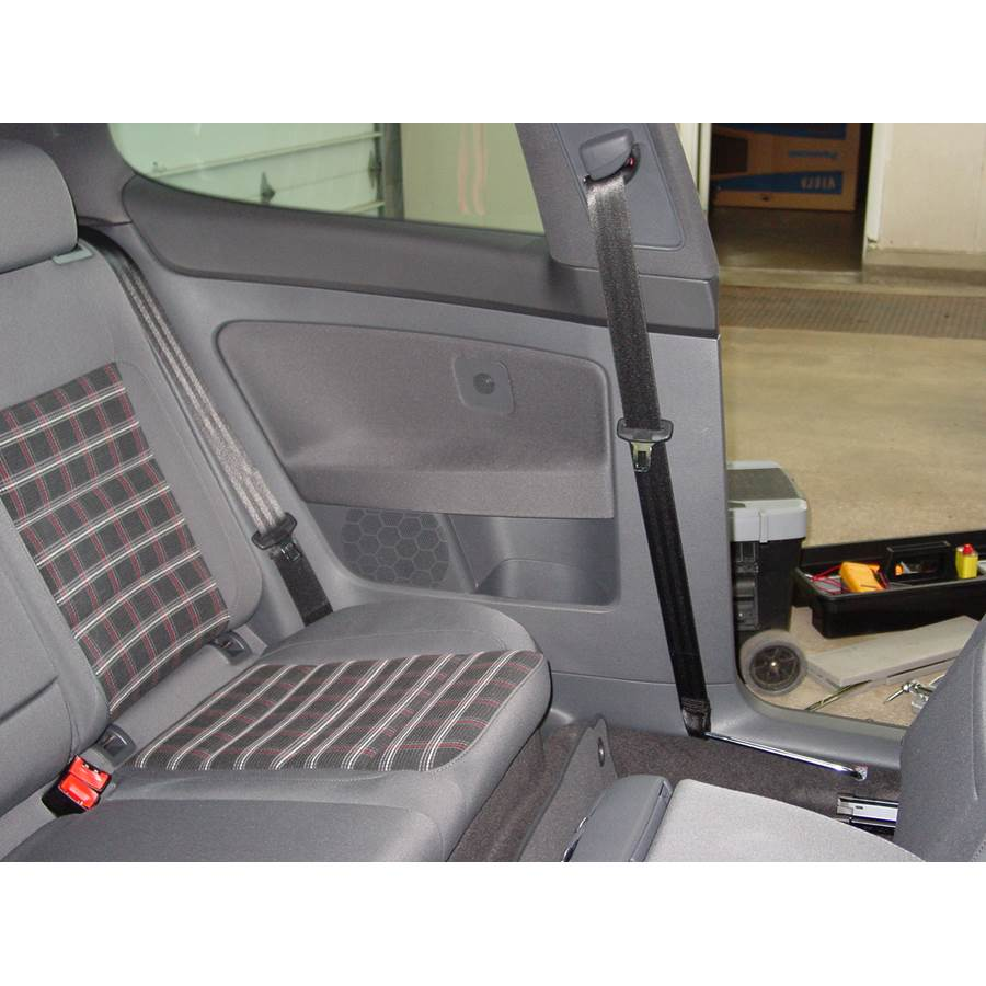 2008 Volkswagen Rabbit Rear side panel speaker location