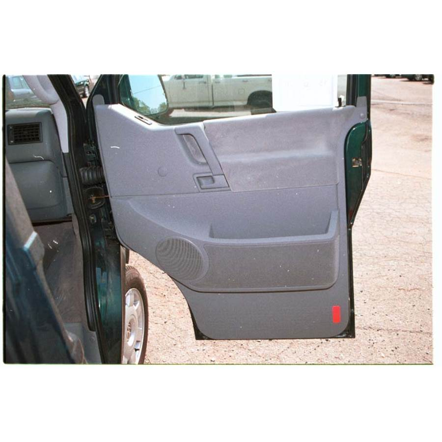 2001 Volkswagen Eurovan Front door speaker location