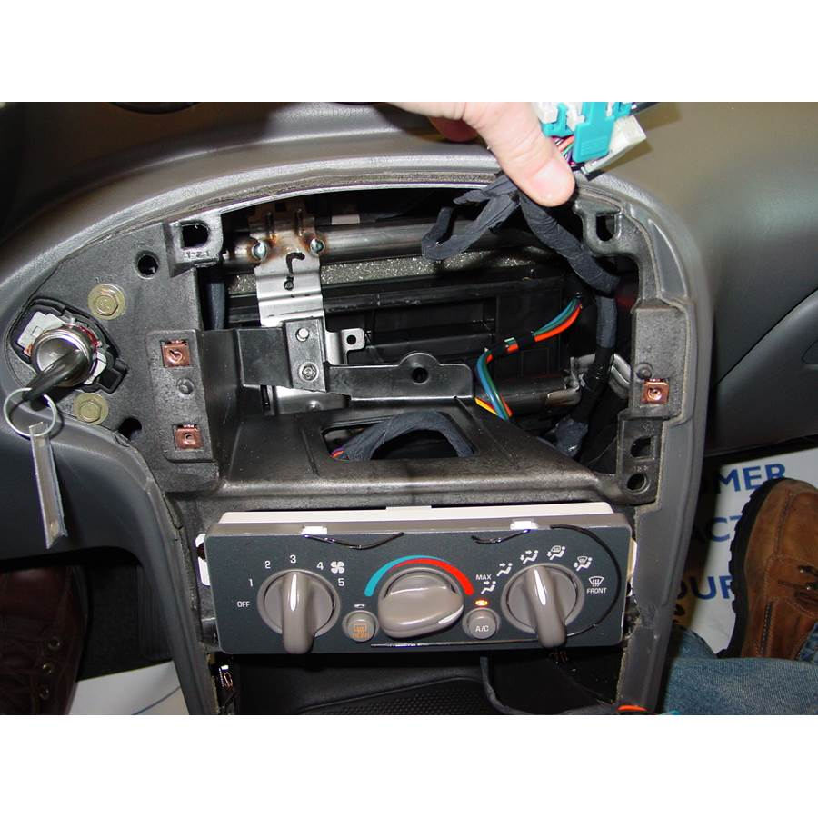 2002 Pontiac Grand Am Factory radio removed