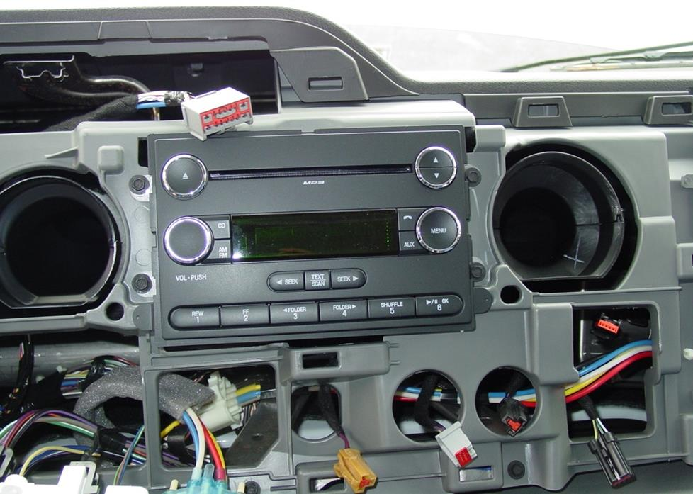Ford E-Series radio cavity