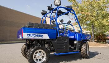 Kicker and Crutchfield build an awesome ATV