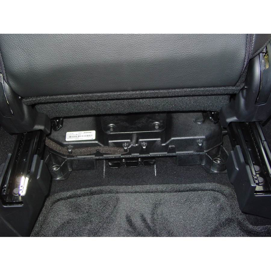 2008 Mazda 3 Under front seat speaker location
