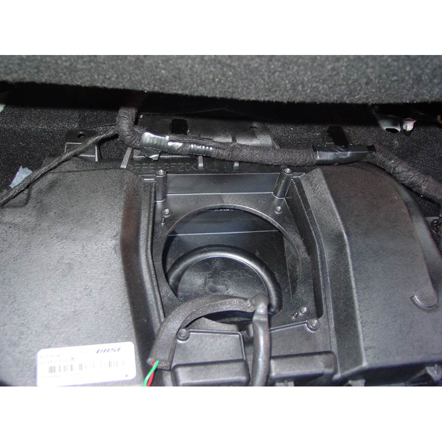 2008 Mazda 3 Under front seat speaker removed