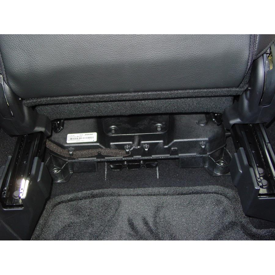 2009 Mazda Mazdaspeed3 Under front seat speaker location