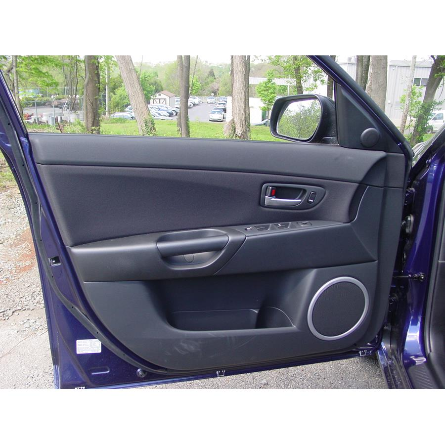 2009 Mazda Mazdaspeed3 Front door speaker location