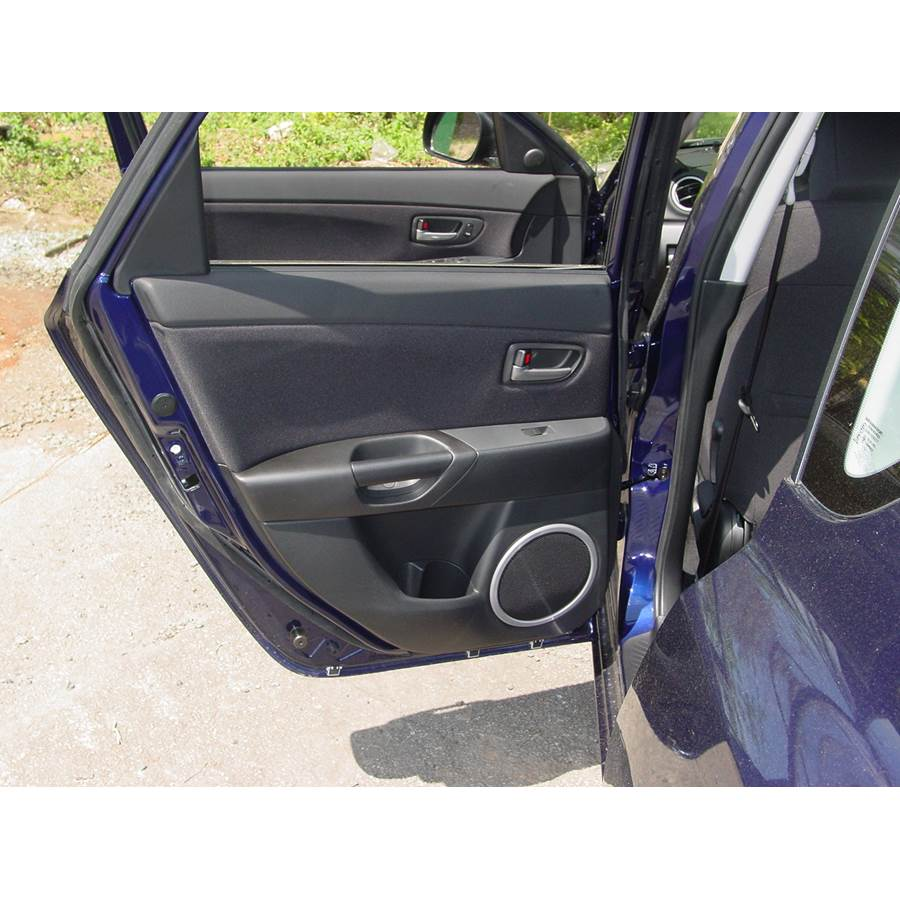 2008 Mazda 3 Rear door speaker location