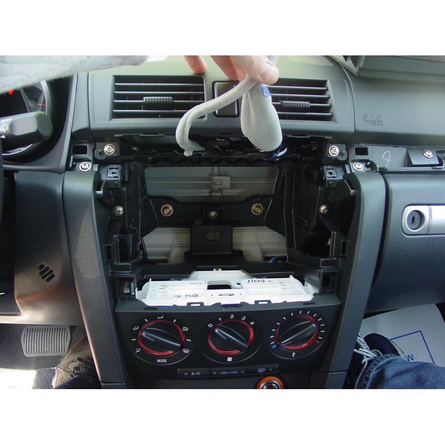 2009 Mazda Mazdaspeed3 Factory radio removed