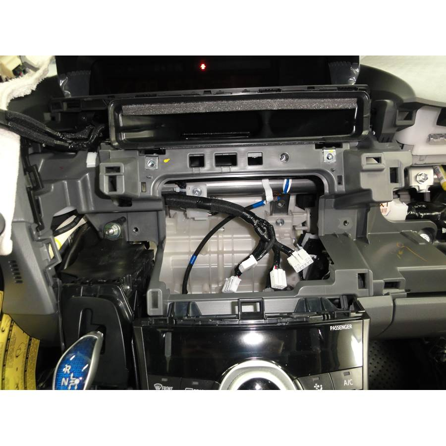 2017 Toyota Prius V Factory radio removed