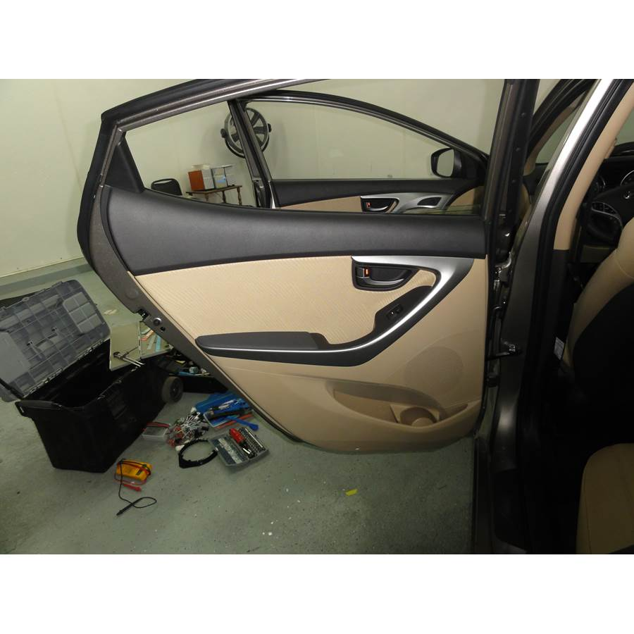 2013 Hyundai Elantra Rear door speaker location
