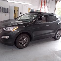exterior hyundai santa fe audio radio, speaker, subwoofer, stereo  at n-0.co