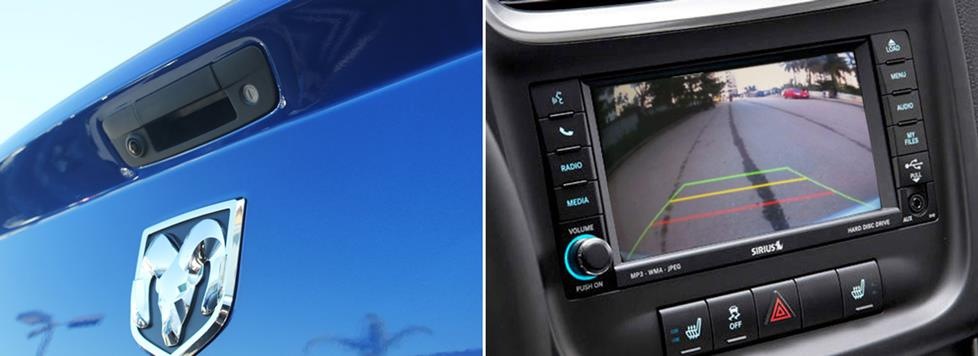 this rear-view camera system, for instance, is compatible with the factory  radios in select dodge and ram pickup trucks