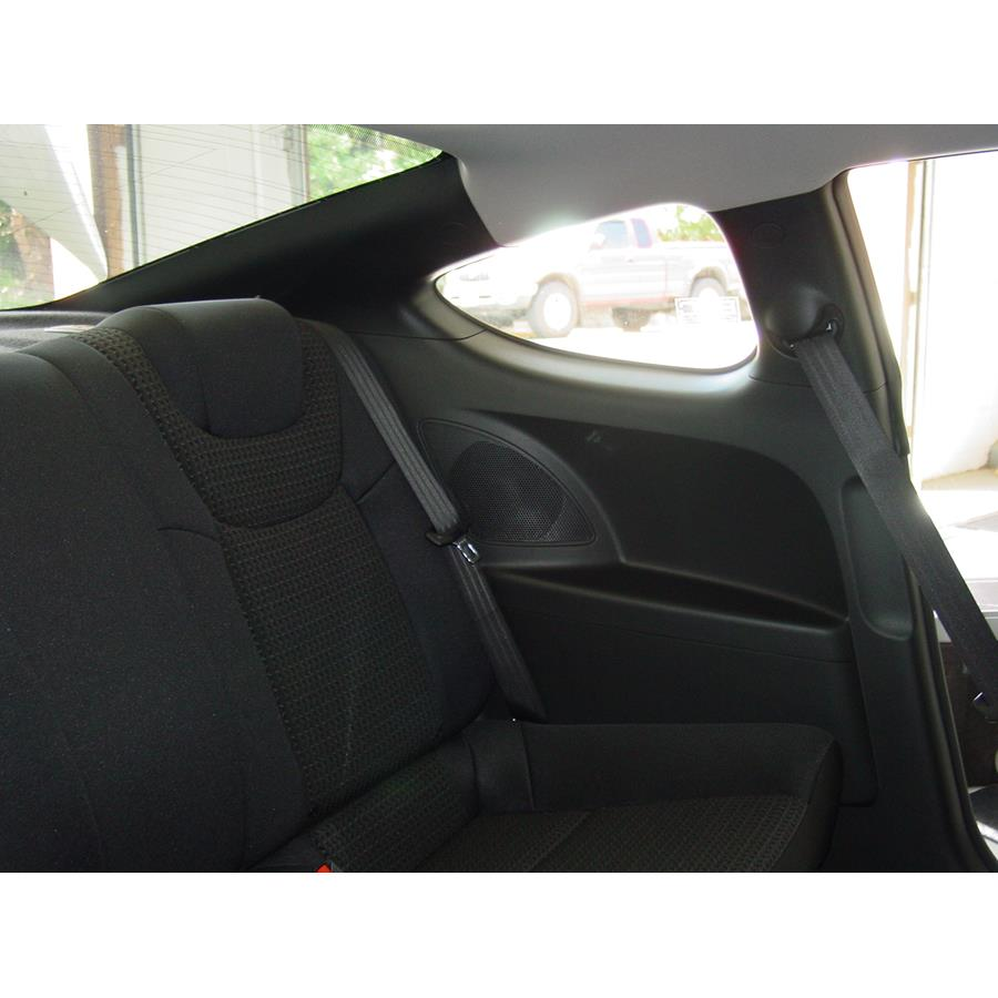 2012 Hyundai Genesis Rear side panel speaker location