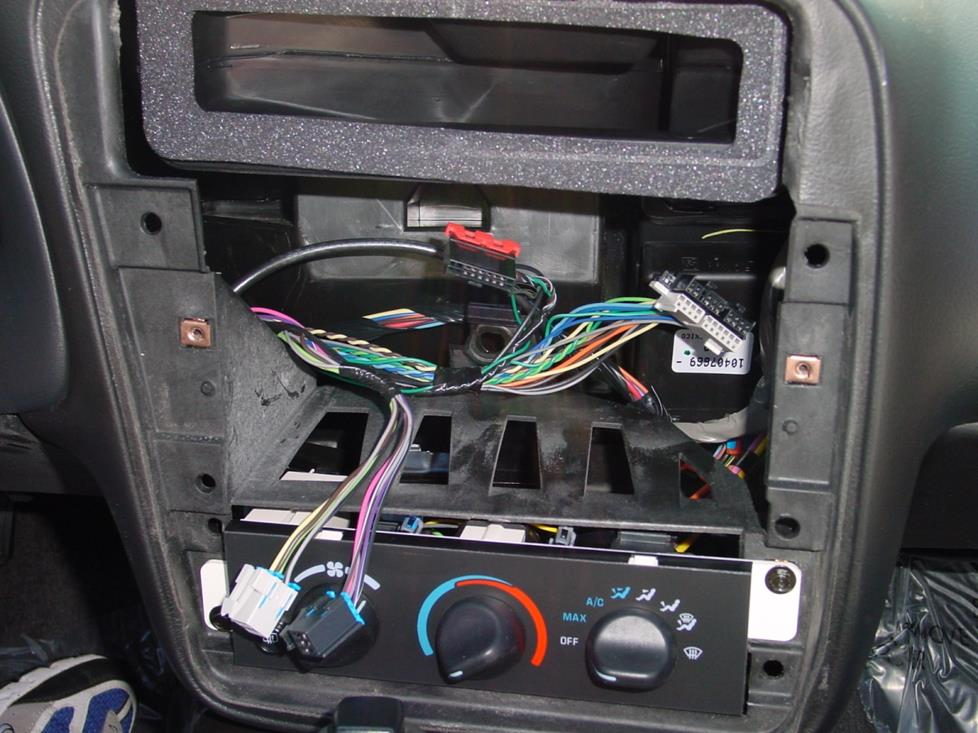 Chevy Camaro radio cavity