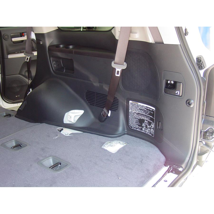 2011 Toyota Land Cruiser Far-rear side speaker location