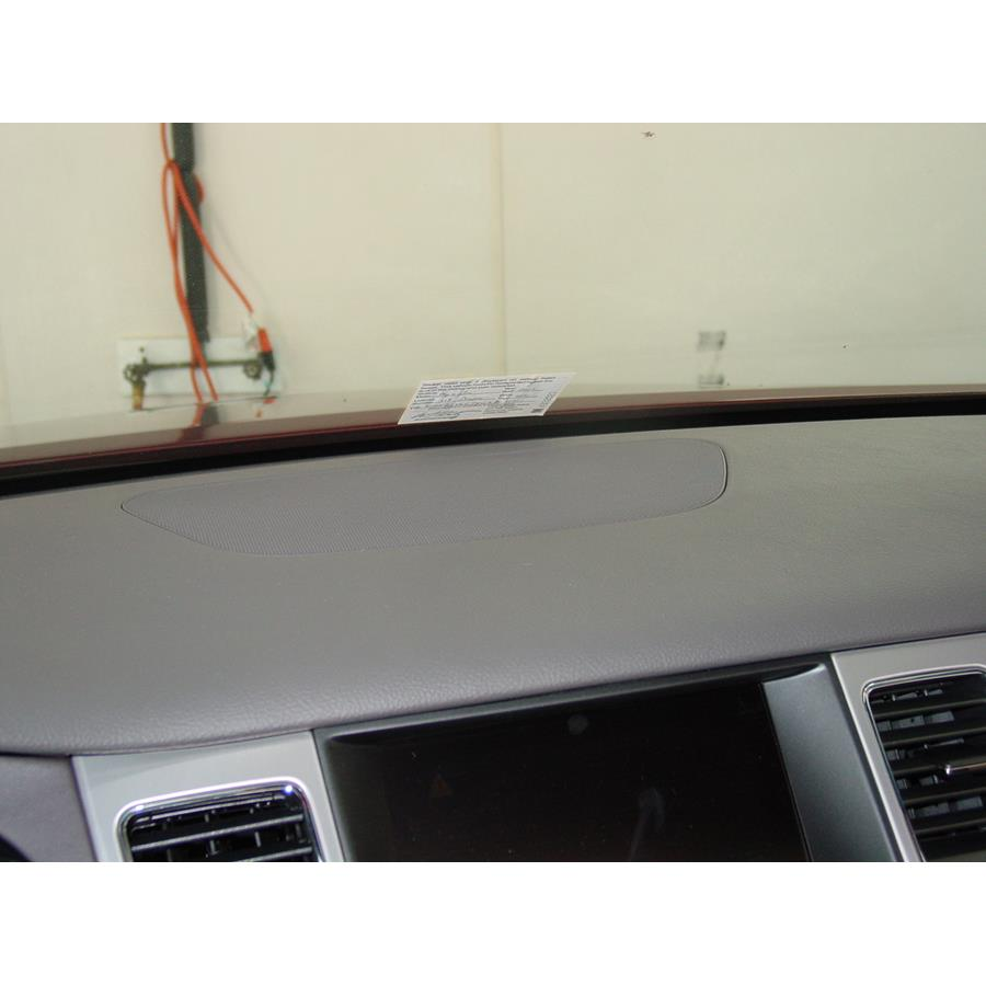 2012 Hyundai Genesis Center dash speaker location