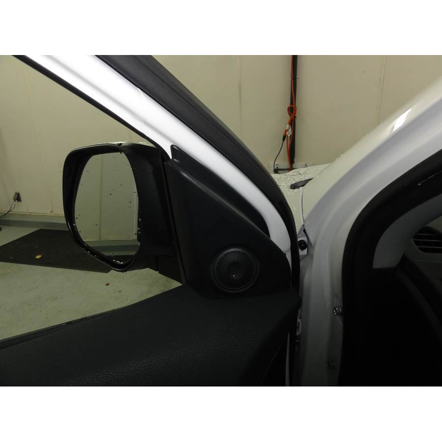2015 Mitsubishi Outlander Sport Front door tweeter location