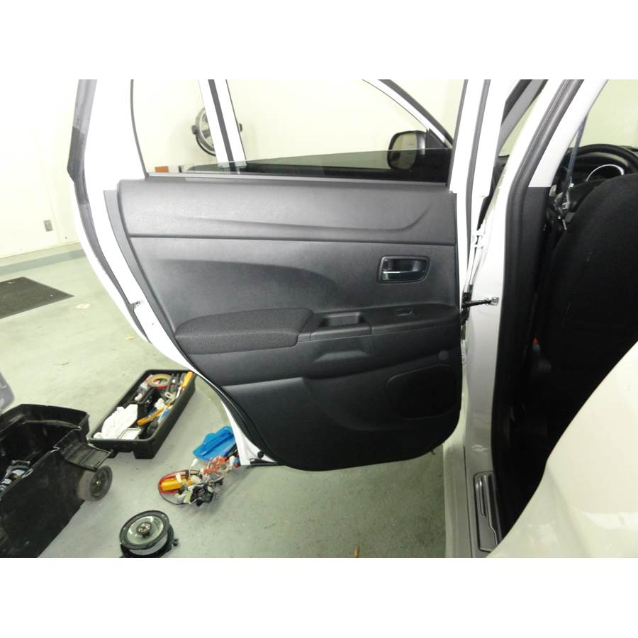 2015 Mitsubishi Outlander Sport Rear door speaker location