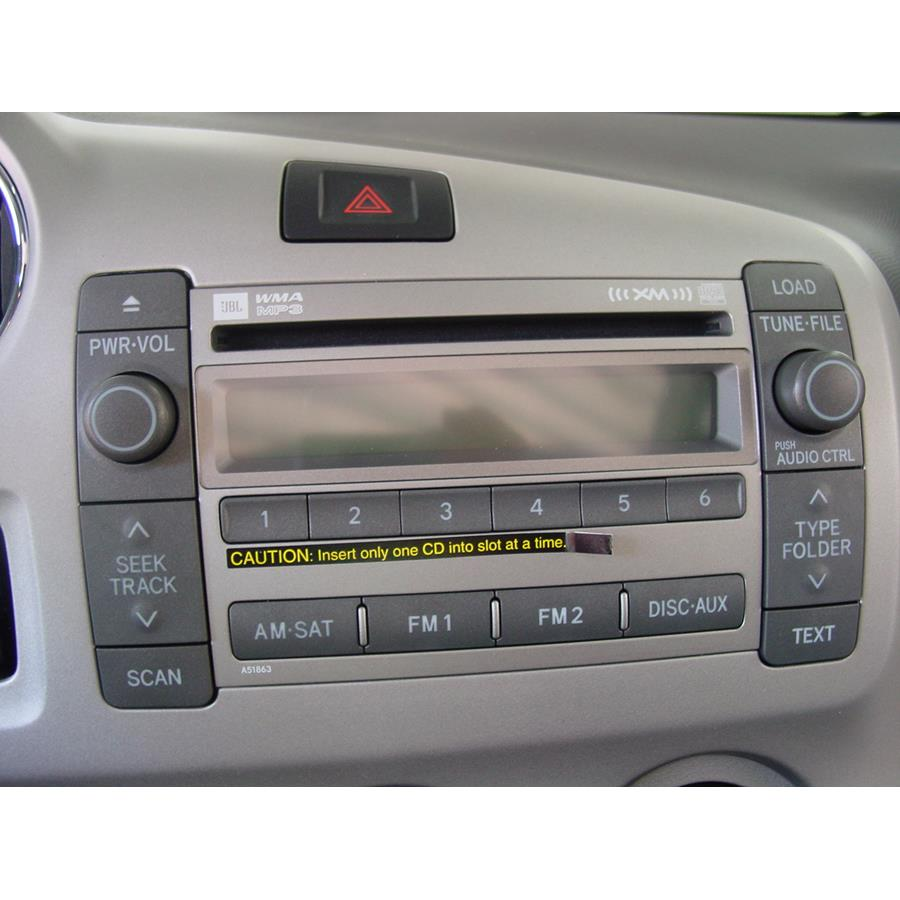 2013 Toyota Matrix Factory Radio