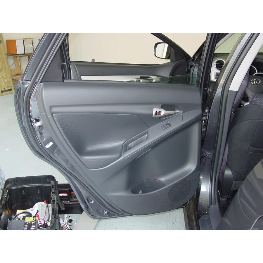 2013 Toyota Matrix Rear door speaker location