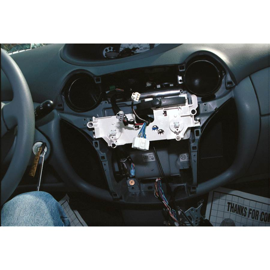 2005 Toyota Echo Factory radio removed