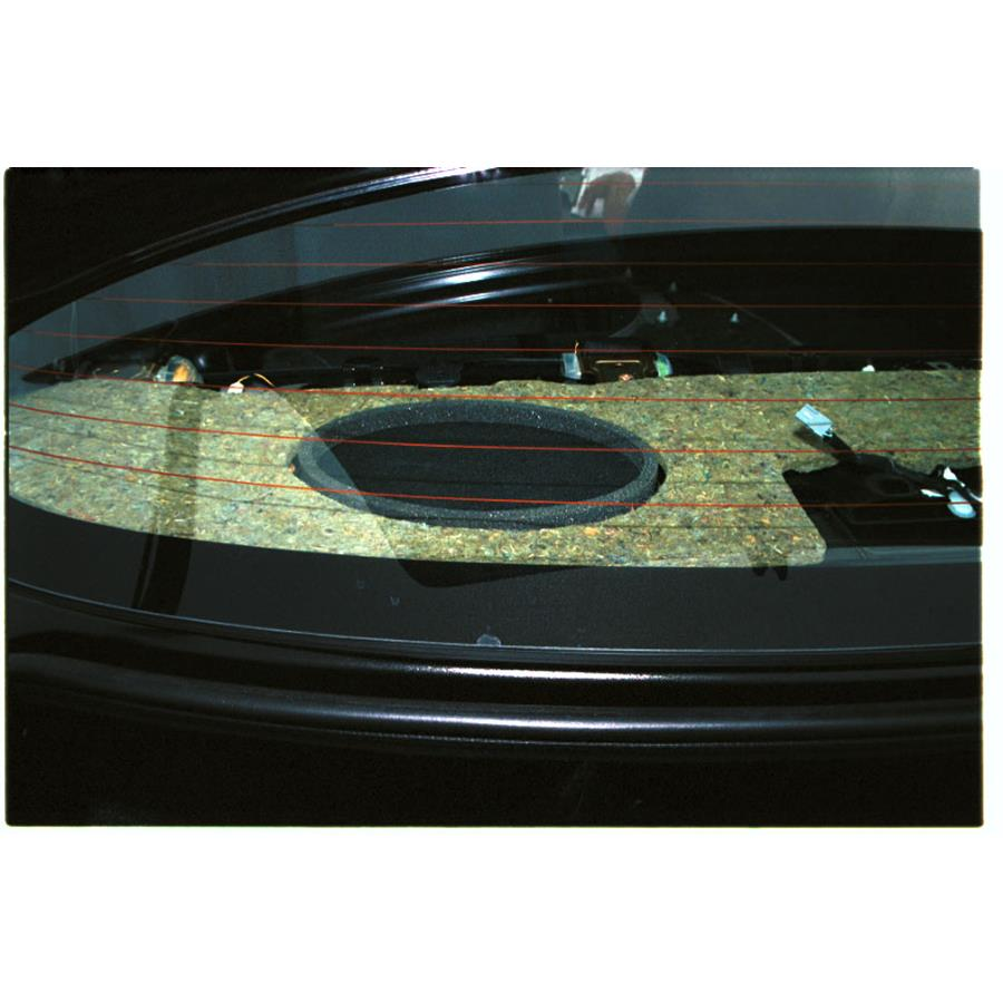 2005 Toyota Echo Rear deck speaker location