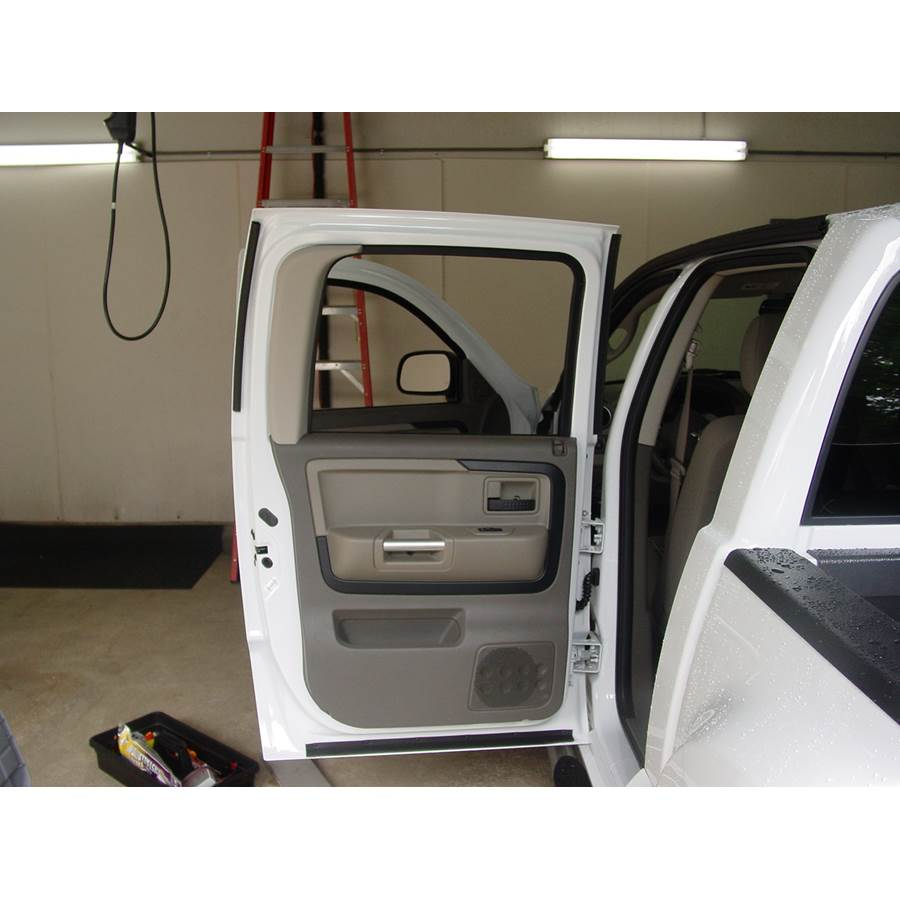 2006 Mitsubishi Raider Rear door speaker location