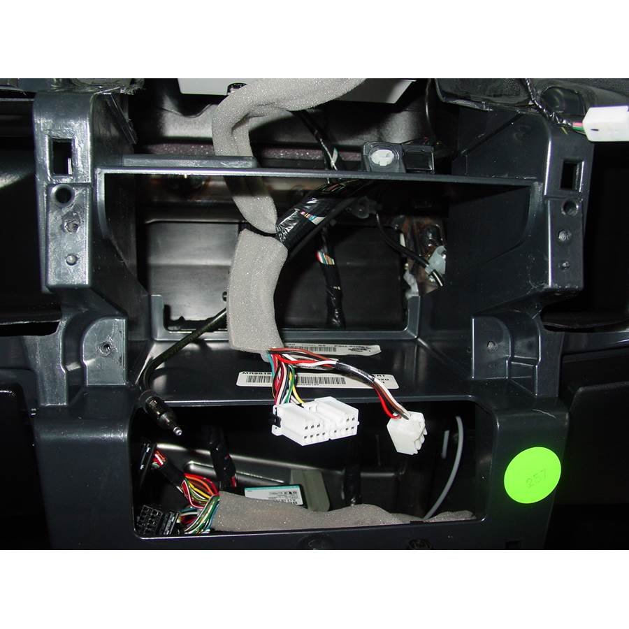 2008 Mitsubishi Endeavor Factory radio removed