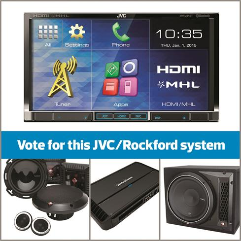 JVC and Rockford Fosgate system