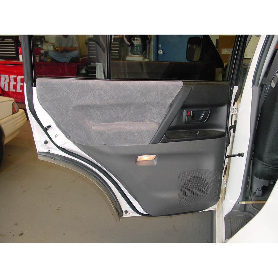 2002 Mitsubishi Montero Rear door speaker location