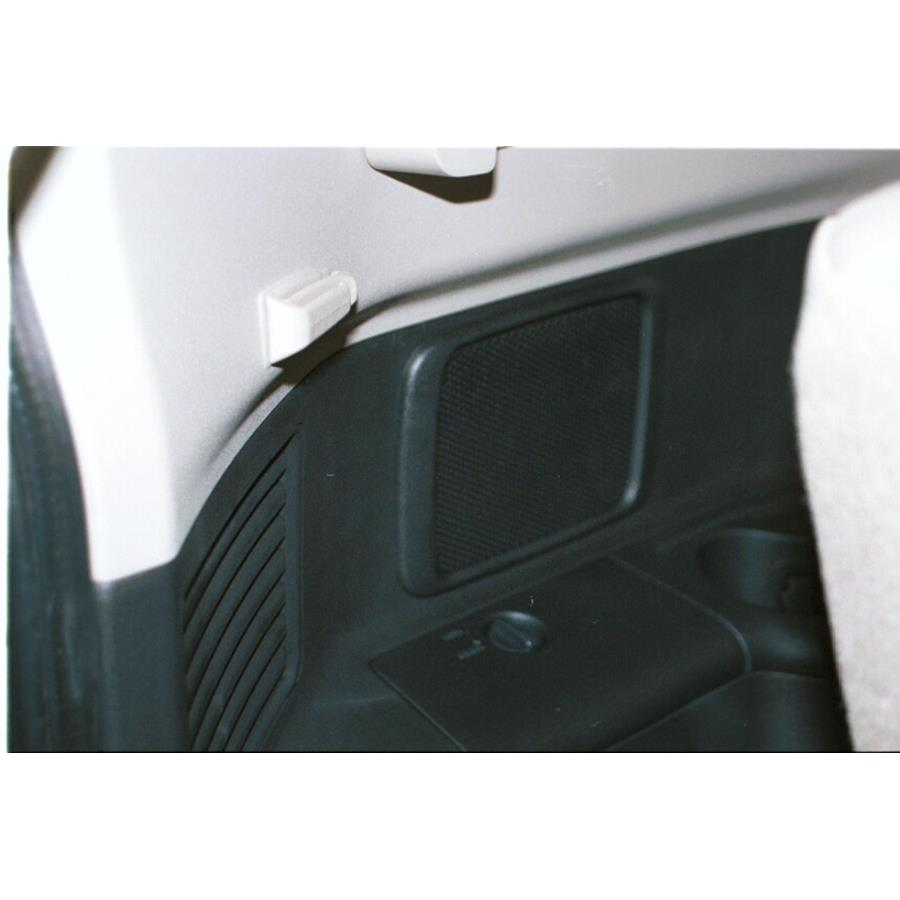 2002 Mitsubishi Montero Far-rear side speaker location