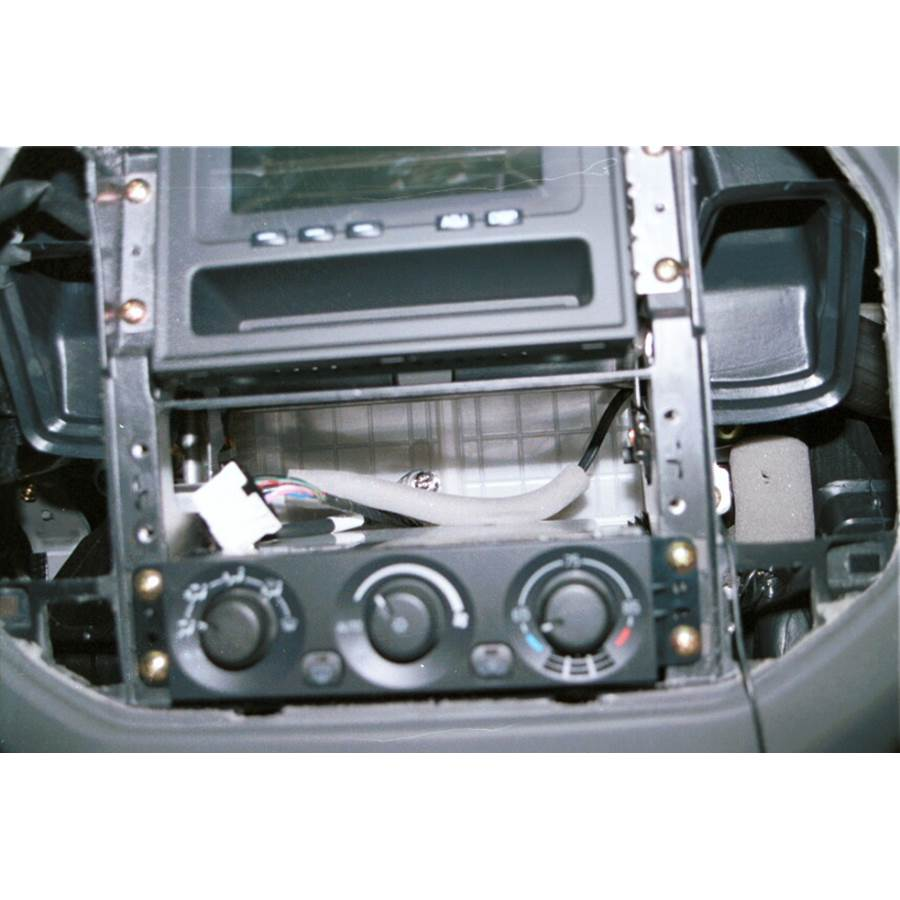 2002 Mitsubishi Montero Factory radio removed