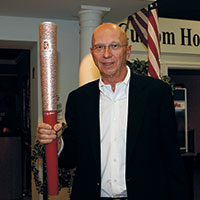 Bill and the Olympic torch