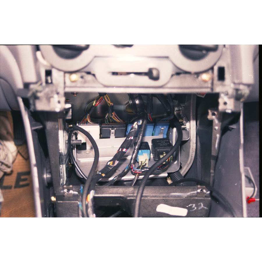 1999 Mitsubishi Eclipse Spyder Factory radio removed